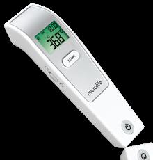 Nên mua nhiệt kế đo trán Microlife FR1MF1 hay Omron MC 720