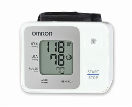 Máy đo huyết áp cổ tay tự động Omron HEM-6161