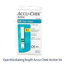 HỘP 50 QUE THỬ ĐƯỜNG HUYẾT ACCU-CHEK ACTIVE