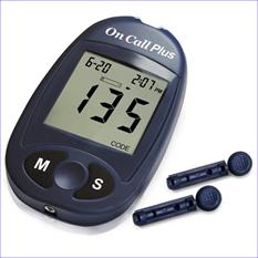 Máy đo đường huyết On Call Plus-Mỹ-tặng kèm que