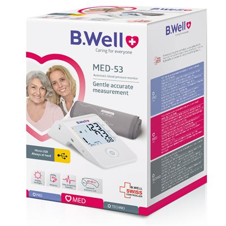 Máy đo huyết áp bắp tay B.Well Swiss MED-53 Nhập Khẩu 100% từ Thụy Sĩ