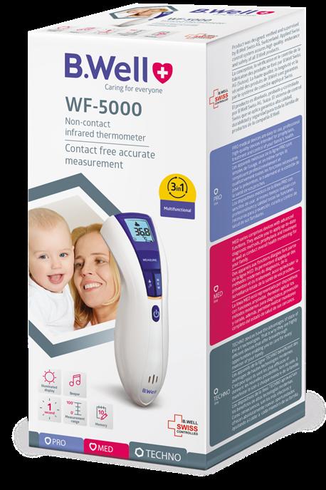 Nhiệt kế hồng ngoại B.Well Swiss WF-5000- Nhập khẩu 100% từ Thụy Sĩ
