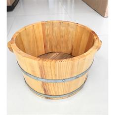 Bồn ngâm chân gỗ thông có hạt masage chống trượt