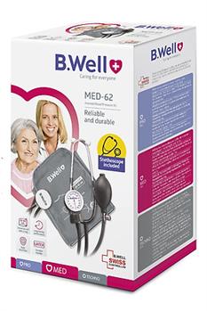Máy đo huyết áp cơ B.Well Swiss MED-62 kèm tai nghe- Nhập khẩu 100% từ Thụy Sĩ
