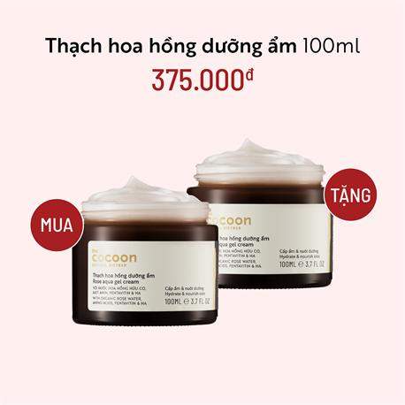 Thạch Hoa Hồng Dưỡng Ẩm Cocoon 100ml - Mua 1 Tặng 1