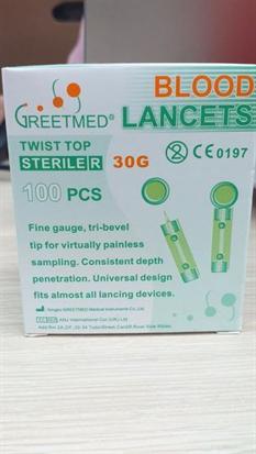 Kim Lấy Mụn - Kim Chích Máu Blood Lancet (Hộp 100 cây)