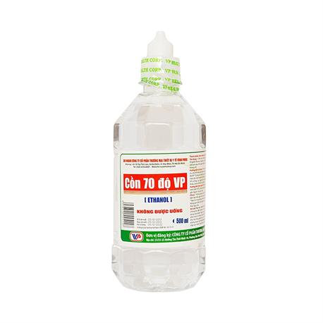 CỒN Y TẾ Ethanol 70 độ VP 500ml Sát Khuẩn An Toàn