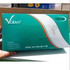 GĂNG TAY CAO SU Y TẾ V.Glove CÓ BỘT