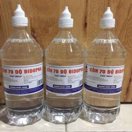 Cồn 70 độ Bidopha 1000ml (Rửa tay, vệ sinh dụng cụ )